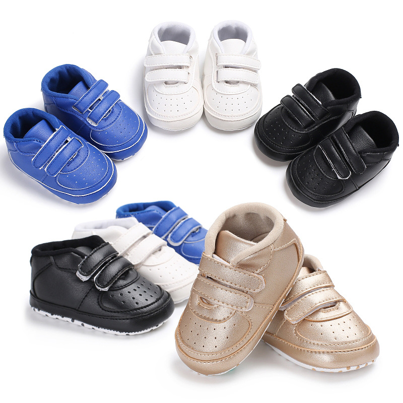 Winter Baby Moccasins Infant Anti-slip PU Leather First Walkers Soft Soled Newborn 0-18 Month Sneakers Branded Baby Shoes
