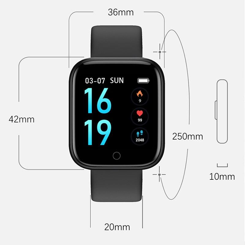 Women Smart watch Men IP68 Waterproof Sports Activity Fitness Tracker Heart Rate BRIM Alloy Smartwatch VS P68 P70 Bracelet