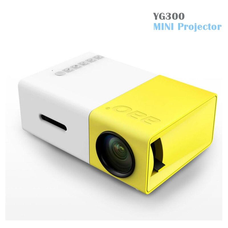 все цены на  YG300 LED Portable Projector 400-600LM 3.5mm Audio 320 x 240 Pixels YG-300 HDMI USB Mini Projector Home Media Player  онлайн