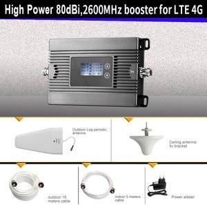 Image 3 - ハイパワー LTE 4 3g 携帯信号ブースター FDD 2600 携帯電話の信号リピータ携帯信号アンプとスマート液晶キット