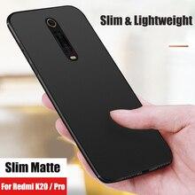 KEYSION Phone Case For Xiaomi Redmi K20 Pro Soft TPU Matte Slim Shockproof Silicone back Cover K20Pro