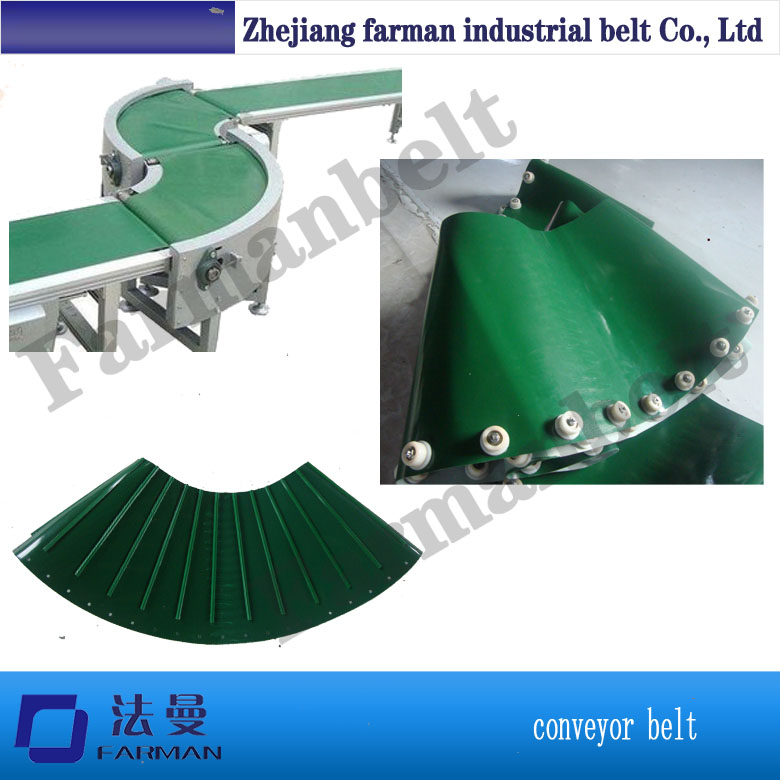 Super grip PVC conveyor belt for logistic and airport