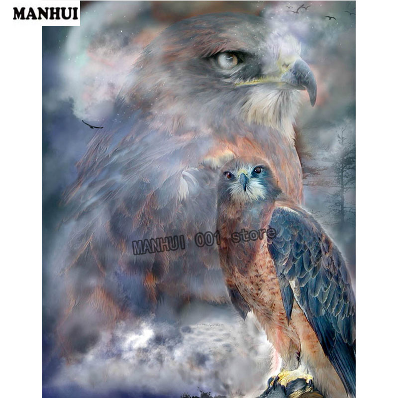 Night owl diamond painting DIY Diamond painting cross stitch diamond embroidery Round diamond full embroidery animal BDW33 ...