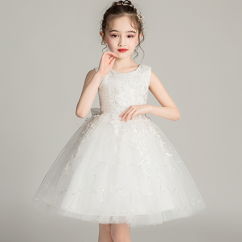 High Quality Lace Appliques Beading Beading Length Pageant First Communion   Girls  'Campus Graduation Ceremony Ball Party   Dress