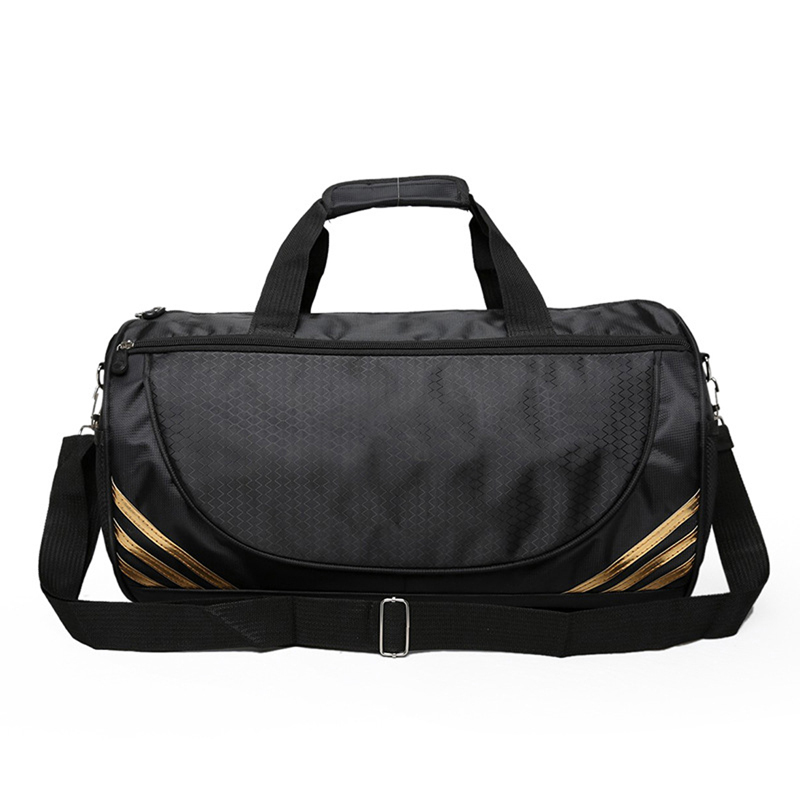 Behave Quote in Color PU Leather and Suede Sports Bag