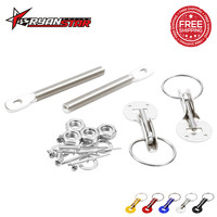 Brand Universal Racing Speed Auto Car aluminum Alloy Silver Bonnet Hood Pin Lock Kit Down Hood Lock Pins