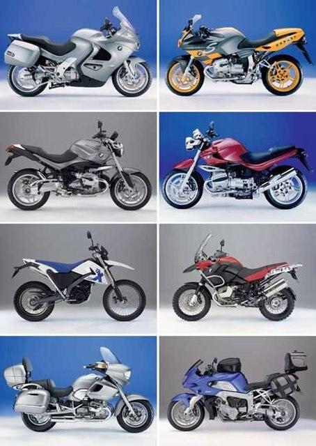 Postcard LAMINATED NEW, Brand Motor Motorcycle 8PCS 15*10.5 cm, Wholesale & Retail
