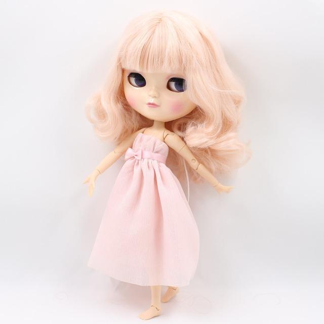 ICY Neo Blythe lutka svijetlo ružičasta kosa spojena s tijelom Azone