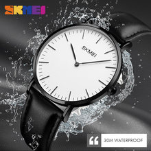 New SKMEI Fashion Watches Women Couple Watches Ultra thin Qu
