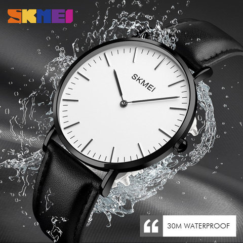 New SKMEI Fashion Watches Women Couple Watches Ultra thin Quartz Watch Elegant Dress Ladies Watch Women Wristwatch Montre Femme Pakistan