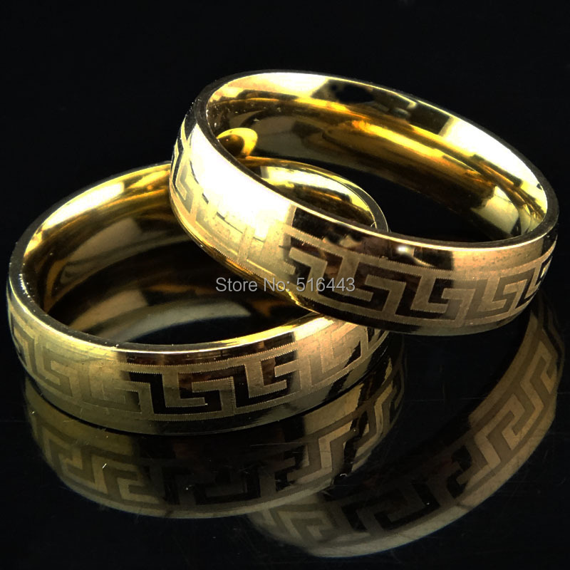 Wholesale 10pcs Hot Selling Greek 18k Gold 316l Stainless