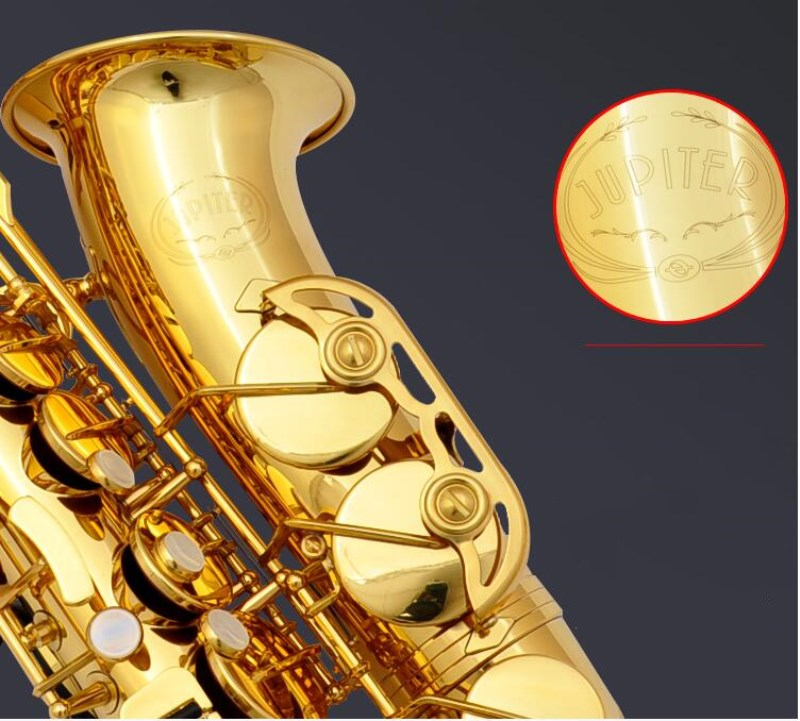 Instrument New Taiwan JUPITER JAS-500Q Alto Eb Tune Saxophone Gold Lacquer Sax With Case Mouthpiece Professional Free Shipping цена