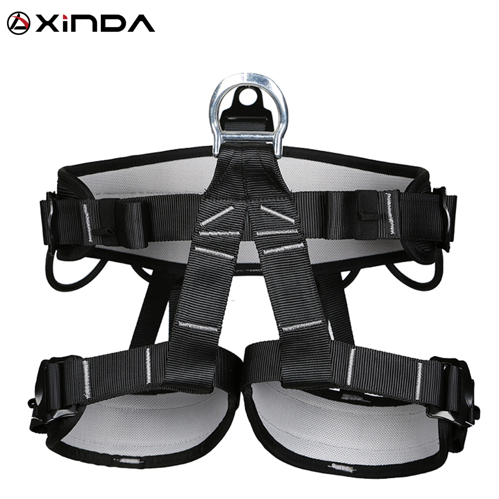 XINDA Camping Outdoor Hiking Rock Climb Half Body Waist Support Safety Belt  Wider Harness for Mountaineering Aerial Equipment|equipment| |  - title=