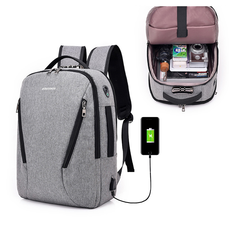 USB Charge Anti Theft Backpack for Men 15.6 inch Laptop Mens Backpacks Fashion Travel School Bags Bagpack sac a dos mochila B288