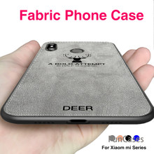 360 Soft Tpu Edge For Xiaomi Pocophone F1 Case Canvas Embossed Deer Cloth Poco Mobile Phone Case For Xiaomi mi my 8 5 6 Max 2 3(China)