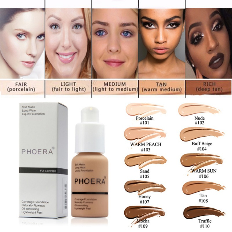 Face Makeup Base Face Liquid Foundation Matte Oil Control Concealer Liquid Easy to Wear Soft Carrying 30ml image