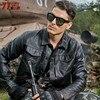 77City Killer Motorcycle PU Leather Jacket Arrival Men Cool Bomber Coat Pilot Jacket Stand Collar Plus