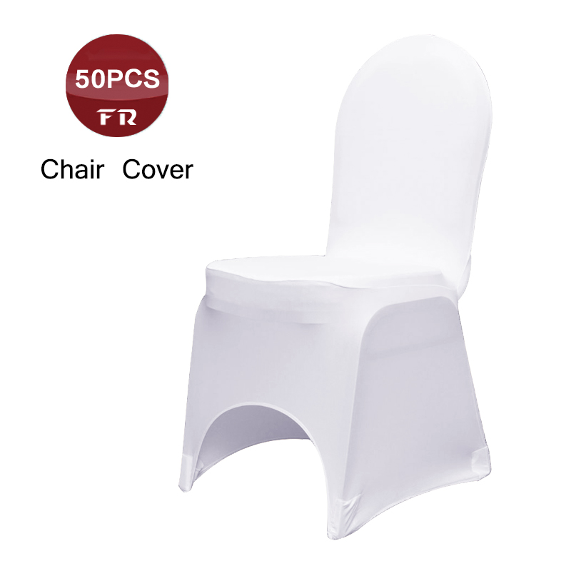 FREE Express Shipping 50PC Chair Cover Spandex for Weddings Universal Stretch Lycra Chair Cover Elastic Funda