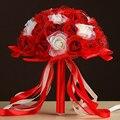 Свадебный Букет 2017 Шесть Цветов Ручной Работы PE Розы buque де noiva цветы zouboutin Свадебные Букеты