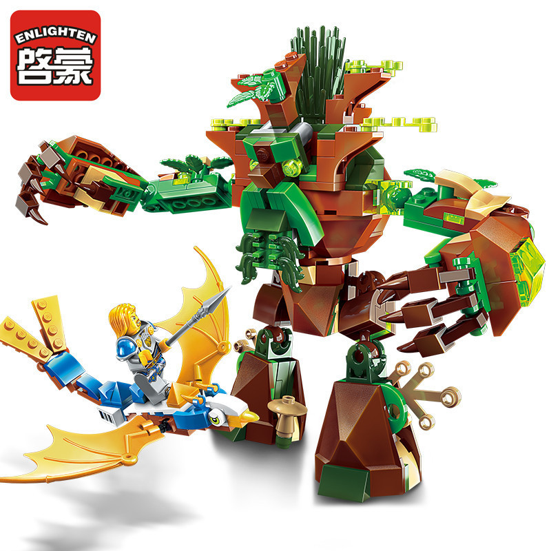 Enlighten 286pcs Legoings Building Blocks War of Glory Castle Knights War Of Ancient Tree Building Toys for Children enlighten 2314 war of glory castle knights shop model building block 368pcs educational toys for children compatible legoe