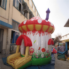 mushroom Inflatable bouncer house playground with CE/UL blower YLW-bouncer 209