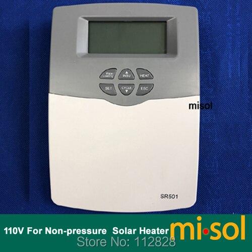 110V Intelligent Controller for Compact non pressurized Solar Water Heater 110v 220v sr501 sr500 solar water heater controller temperature controller for compact solar water heater