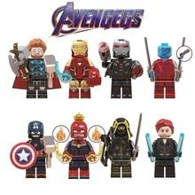 Endgame Legoed Minifigured Thor Iron Man Marvel Super Heroes Black Widow Avengers 4 Building Blocks Figures Children Gift Toys