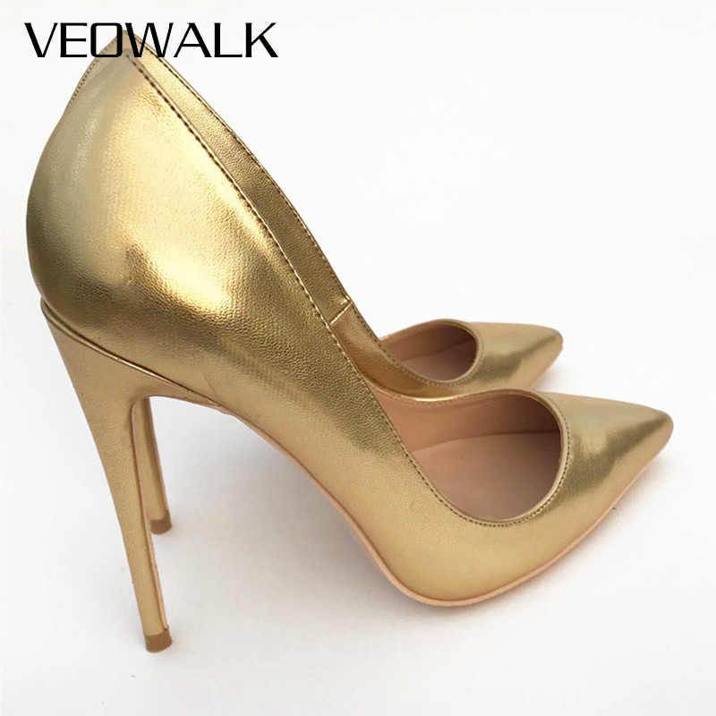 3cf5cb818d Detail Feedback Questions about Veowalk Shiny Gold Women Sexy ...