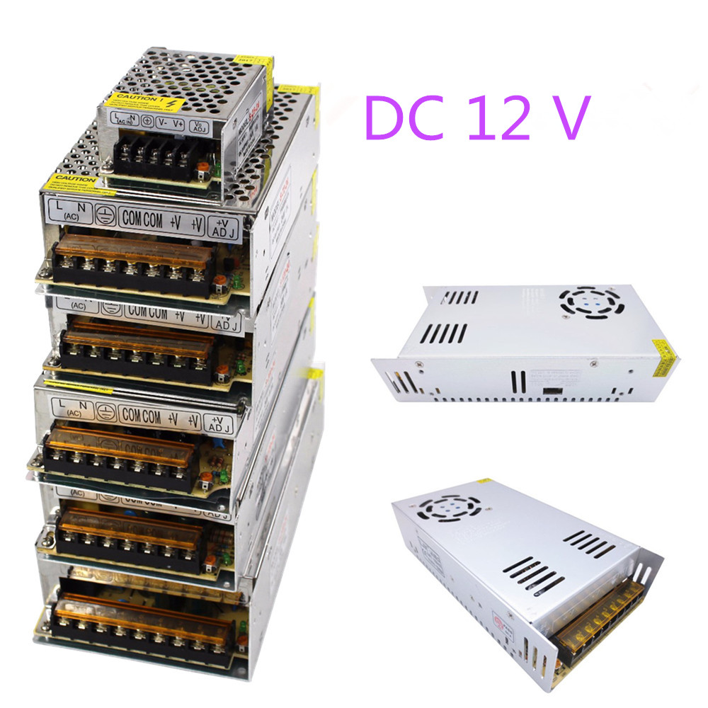 Power Supply led driver AC 220V to DC <font><b>12</b></font> <font><b>V</b></font> 2A 3A 5A 8.5A 10A 15A 20A 30A <font><b>12</b></font> volt charger step down <font><b>Adapter</b></font> light Transformer image