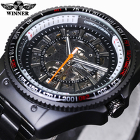 Winner New Number Sport Design Bezel Black Watch Mens Watches Top Brand Luxury Montre Homme Clock