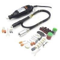 Высокое качество Стиль мини-измельчитель DIY электрический ручной сверлильный станок с + мягкое голенище + 105 шт. DIY подарок
