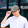 Summer Men`s Leightweight Cloth Cap Ivy Irish Hat Eight Pieces Embroidery 100% Cotton Cabbie Cap For Men