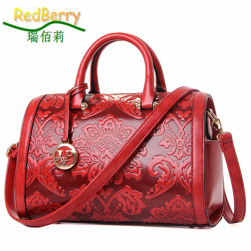 Women Bag Boston CrossbodyTop PU Leather Handbag Shoulder Ladies Elegant Casual Tote Famous Brand New Luxury Chinese Style ostin bl8q11 62