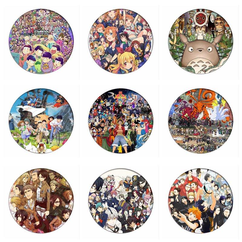 1pcs Miyazaki Hayao Manga Totoro Spirited Away Cosplay Badges Naruto Brooch Pins Members Collection Badge For Backpacks Clothes
