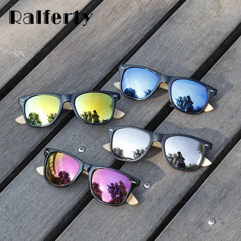 c9d94b9ee156f ... Ralferty Retro Wood Sunglasses Men Bamboo Sunglass Women Brand Sport  Goggle Mirror UV400 Sun Glasses Male ...