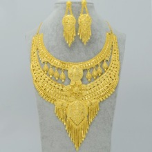 India Jewelry sets Wedding Gifts,Gold Plated & Copper 2017 Dubai Necklace/Earrings Women's,Arabs Middle East Jewellery #003823