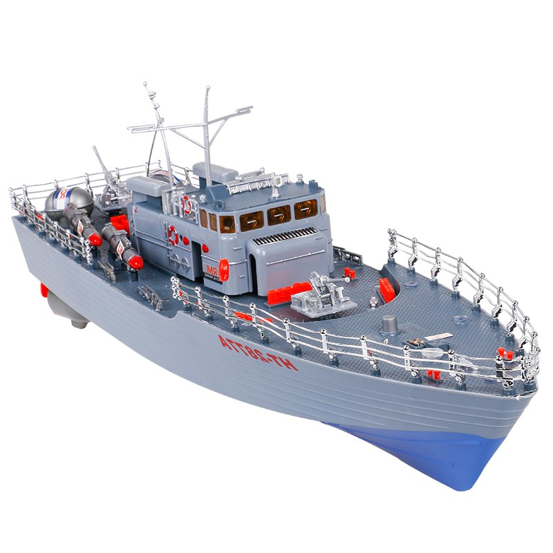 RC Boat 1/275 Destroyer WarShip <font><b>Remote</b></font> <font><b>Control</b></font> Military Naval Vessels Racing Ship Electronic Model For Kids Birthday Hobby Toys image