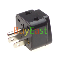 USA/Canada/Japan Travel Adapter, 2 Way Outlet Port Convert World Plug to US Plug