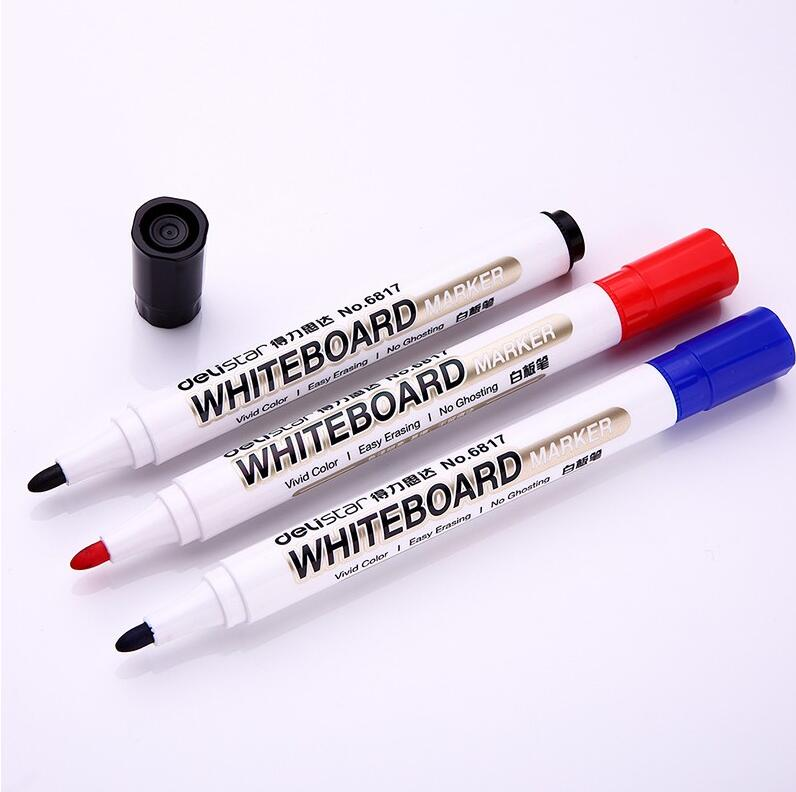 Deli 10 piece/ lot school & office supplies red blue black green erasable whiteboard marker pen stationery wholesale 50 pcs lot wholesale erasable high quality whiteboard marker pens school markers blue black red office supplies papelaria 04305