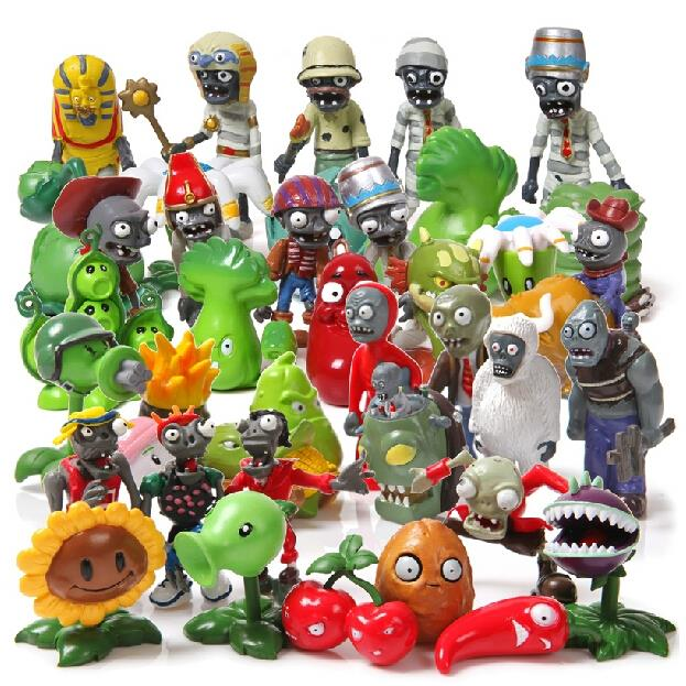 Hot 40Pcs/set Plants vs Zombies PVZ Toy Plants Zombies PVC Action Figures Toy Doll Set for Collection Party Decoration-in Action & Toy Figures from Toys & Hobbies