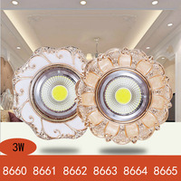3W Aisle Backdrop  LED Ceiling Light  LED Retro Built-in Ceiling Light Led COB Panel Light For Living Room Corridor AC220V