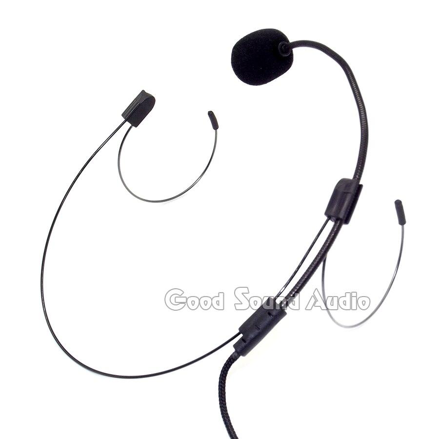 5Pcs/lot Mini XLR 4 Pin TA4F Double Earhook Mic Headset Microphone ...