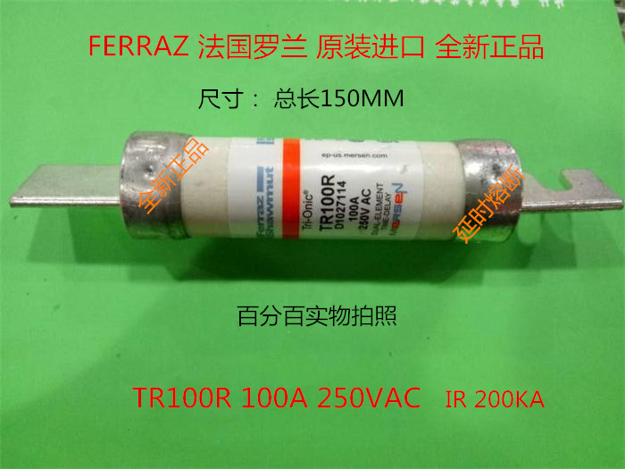 Free shipping 5pcs TR100R delay fuse Ferraz France Roland Mersen mersen fuse 100A250VAC middle eastern patterns to colour