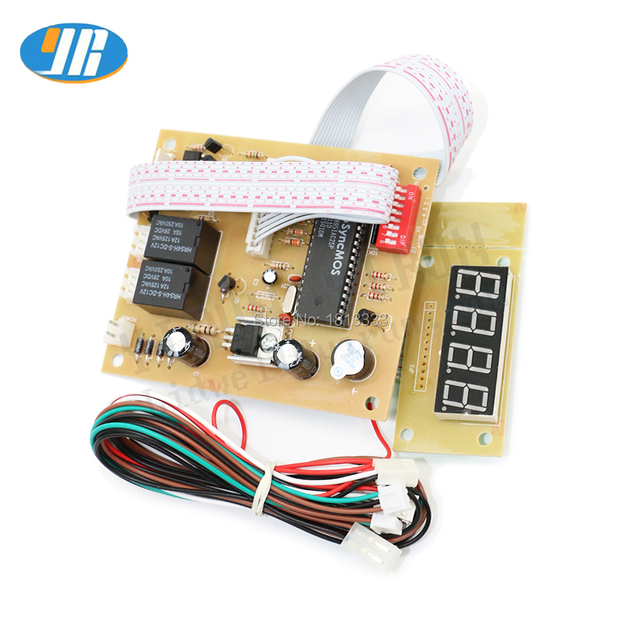 4 digits 12v time control timer board with wire harness power supply for  coin acceptor selector, pump water, washing machine