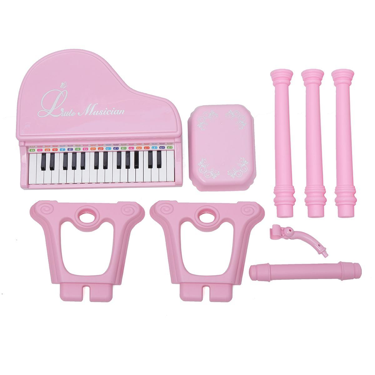 31 touches enfants Piano jouets clavier électronique Piano lumière Microphone apprentissage jouets Instrument de musique enfants cadeau 3 couleurs - 4