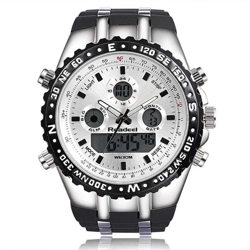 Readeel haut Sport Quartz montre bracelet hommes militaires montres imperméables Led montres numériques hommes Quartz montre bracelet mâle - 6