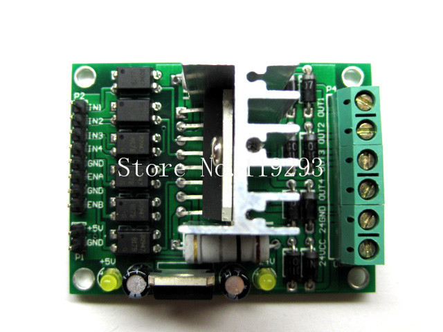 [[BELLA]<font><b>DC</b></font> <font><b>motor</b></font> drive module L298N stepper <font><b>motor</b></font> <font><b>driver</b></font> module robot car accessories--5PCS/LOT image