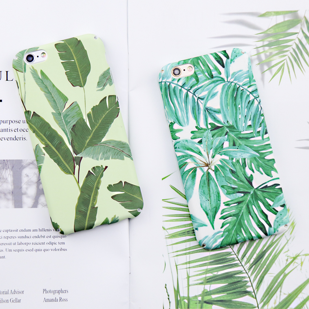 For iphone 6 case Dillon Guan Green banana Leaves Pattern Cases For iPh