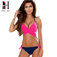 YANG HUA Sexy Bikini 2018 New Swimwear Women Bikini Push Up Spain Swimsuit Cross Bandage Brazilian