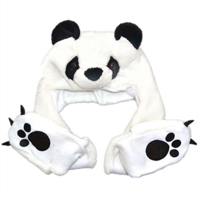 0f0517372c2 Online Shop COSPLAY Plush Cartoon Panda Hats with Ear Flaps Paw Fluffy Soft  Warm Animal Hat Fit for Kid Child Baby Scarf Gloves Winter Cap